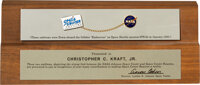 Space Shuttle Endeavour Flown NASA and Space Center Houston Emblems Directly from the Estate of NASA Legend Chris