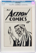Golden Age (1938-1955):Superhero, Action Comics #1 Ashcan (DC, 1937) CGC NM- 9.2 Cream to off-white pages....