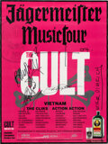 Music Memorabilia:Autographs and Signed Items, The Cult Signed Jägermeister Music Tour Promo Poster (2007). ...