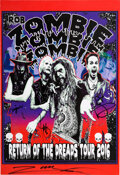 """Music Memorabilia:Autographs and Signed Items, Rob Zombie Band Signed """"Return of the Dreads"""" Tour Poster (2016). ..."""