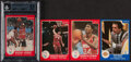 Basketball Cards:Sets, 1985 Star Co. Coaches Set (10) & All-Rookie Set (11) with Jordan. ...