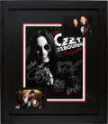 Music Memorabilia:Autographs and Signed Items, Ozzy Osbourne Band Signed Poster. ...