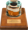 Explorers:Space Exploration, Apollo 13 Flown Heat Shield Ablative Heat Shield Plug in Acrylic Display Directly from the Estate of NASA Legend Chris Kraft, ...