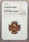 Proof Lincoln Cents, 1956 1C PR68 Red Cameo NGC. NGC Census: (93/10). PCGS Population: (32/0). CDN: $250 Whsle. Bid for NGC/PCGS PR68....