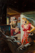 Paintings, Norman Saunders (American, 1907-1989). The Crime of My Life, 10 Story Detective cover, February 1949. Oil on board . 22 ...