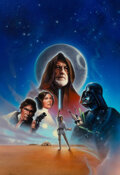 Paintings, John Alvin (American, 1948-2008). Star Wars: A New Hope, International Video Cover, 1995. Acrylic on b...
