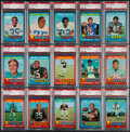 Football Cards:Sets, 1971 Topps Football PSA-Graded Partial Set (122) with Stars and Hall of Famers. ...