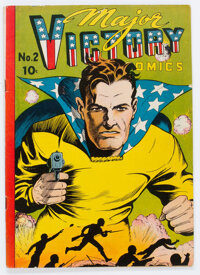 Major Victory Comics #2 (Harry 'A' Chesler, 1945) Condition: VG/FN
