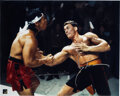 Movie/TV Memorabilia:Autographs and Signed Items, Jean-Claude Van Damme/Bolo Yeung Signed Bloodsport Movie Photo. ...