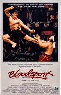 Movie/TV Memorabilia:Autographs and Signed Items, Jean-Claude Van Damme/Bolo Yeung Signed Bloodsport Photo. ...