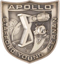 Explorers:Space Exploration, Apollo 10 Flown Silver Robbins Medallion, Serial Number 16, Directly from the Estate of NASA Legend Chris Kraft, with Certific...