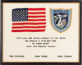 Explorers:Space Exploration, Apollo 10 Flown American Flag and Mission Insignia Patch on Certificate Directly from the Estate of NASA Legend Chris Kraft, i...