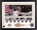 """Explorers:Space Exploration, Gene Cernan Signed Limited Edition, #931/1972, """"Golden Age of Space"""" Framed Display with Apollo 17 Medal containing Flown Meta..."""