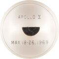 Explorers:Space Exploration, Apollo 10 Command Module Flown Heat Shield Plug in Lucite Directly from the Estate of NASA Legend Chris Kraft, with Certificat...