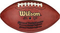 Football Collectibles:Balls, 2003 Oakland Raiders Game Used Football Which Jerry Rice Caught for Career Touchdown #193 on 11/23 vs. the Chiefs....