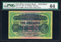 East Africa East African Currency Board 10 Shillings 15.12.1921 Pick 14s Specimen PMG Choice Uncirculated 64</
