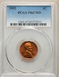 Proof Lincoln Cents: , 1952 1C PR67 Red PCGS. PCGS Population: (239/9). NGC Census: (654/164). CDN: $75 Whsle. Bid for NGC/PCGS PR67. Mintage 81,9...