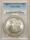 Morgan Dollars: , 1887-O $1 MS63 PCGS. PCGS Population: (4963/3424). NGC Census: (4690/1993). CDN: $125 Whsle. Bid for NGC/PCGS MS63. Mintage...