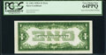 Inverted Back Error Fr. 1601 $1 1928A Silver Certificate. PCGS Very Choice New 64PPQ