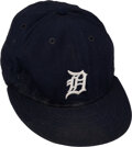 Baseball Collectibles:Hats, 1980's Lou Whitaker Game Worn & Signed Detroit Tigers Cap....