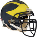 Football Collectibles:Helmets, Early 2000's Michigan Wolverines Game Worn Helmet....