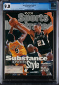 """Basketball Collectibles:Publications, 1999 Tim Duncan First """"Sports Illustrated"""" - CGC 9.0, Pop One, None Higher...."""