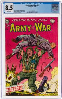 Our Army at War #8 (DC, 1953) CGC VF+ 8.5 White pages