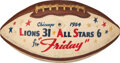 """Football Collectibles:Balls, 1954 Detroit Lions Team Signed College All-Star Game Used Football Presented to Equipment Manager Roy """"Friday"""" Macklem with Pr..."""