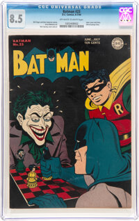 Batman #23 (DC, 1944) CGC VF+ 8.5 Off-white to white pages
