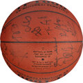 Basketball Collectibles:Balls, 1999 USA Basketball Tournament of the Americas Team Signed Limited Edition Basketball from The Steve Koonin Collection....