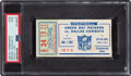 Football Collectibles:Tickets, 1966 NFL Championship Game Ticket Stub, PSA Good 2....