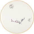 Music Memorabilia:Autographs and Signed Items, Pink Floyd Signed Evans Drum Head. ...