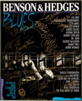Music Memorabilia:Autographs and Signed Items, Benson & Hedges Blues 1989 Concert Poster Signed By B.B. King, Etta James, and More....