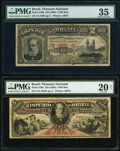 World Currency, Brazil Thesouro Nacional 2 Mil Reis; 5 Mil Reis ND (1885) Pick A260; A261 Two Examples PMG Choice Very Fine 35; Very Fine ... (Total: 2 notes)
