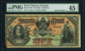 Brazil Thesouro Nacional 10 Mil Reis ND (1885) Pick A262 Serial Number 1 PMG Choice Extremely Fine 45 Net