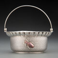 Silver & Vertu, A Whiting Mfg. Co. Mixed Metal Basket with Applied Beetle, New York, circa 1885. Marks: (W-griffin), STERLING, 465, A. 5...