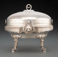 A Gorham Mfg. Co. Silver Covered Butter Dish, Providence, Rhode Island, circa 1875 Marks: (lion-anchor-G), STERLING, E...