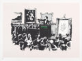 Prints & Multiples, Banksy (b. 1974). Morons, 2006. Screenprint in colors on Arches 88 paper. 22-1/2 x 30 inches (57.2 x 76.2 cm) (sheet). E...