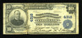 National Bank Notes:Ohio, Cleveland, OH - $10 1902 Plain Back Fr. 627 Central NB Savings& TC Ch. # 4318. ...