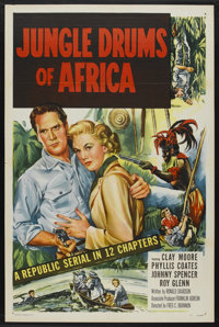 """Jungle Drums of Africa (Republic, 1952). One Sheet (27"""" X 41""""). Serial"""