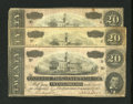 Confederate Notes:1864 Issues, Trio of T67's - $20 1864.. ... (Total: 3 notes)