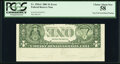 Error Notes:Inverted Reverses, Inverted Back Error Fr. 1926-C $1 2001 Federal Reserve Note. PCGS Choice About New 58.. ...