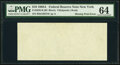 Error Notes:Blank Reverse (100%), Missing Back Printing Error Fr. 2028-B $10 1988A Federal Reserve Note. PMG Choice Uncirculated 64.. ...