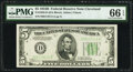 Small Size:Federal Reserve Notes, Fr. 1958-D $5 1934B Federal Reserve Note. PMG Gem Uncirculated 66 EPQ.. ...