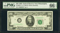 Small Size:Federal Reserve Notes, Low Serial Number 6357 Fr. 2067-C* $20 1969 Federal Reserve Star Note. PMG Gem Uncirculated 66 EPQ.. ...