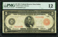 Large Size:Federal Reserve Notes, Fr. 842b $5 1914 Red Seal Federal Reserve Note PMG Fine 12.. ...
