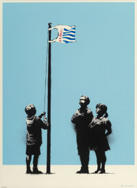 Banksy (b. 1974) Very Little Helps, 2008 Screenprint in colors on wove paper 19-7/8 x 14-5/8 inch