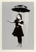 Prints & Multiples, Banksy (b. 1974). NOLA (White Rain), 2008. Screenprint in colors on Arches paper. 29-3/4 x 21-1/2 in...