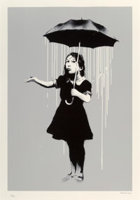 Banksy (b. 1974) NOLA (White Rain), 2008 Screenprint in colors on Arches paper 29-3/4 x 21-1/2 inches (75.6 x 54.6 cm