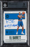 Basketball Cards:Singles (1980-Now), 2019-20 Panini Encased RJ Barrett (Green) Autograph #104 BGS Mint 9, Auto 10 - Serial Numbered 3/5....